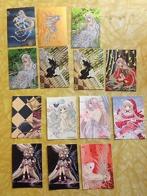 Clamp Kodansha Anime card lot Chobits Manga 14 cards