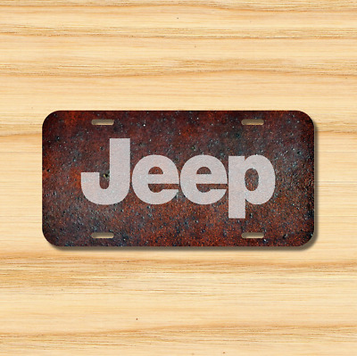 Vintage Jeep License Plate Vehicle Auto Vehicle Tag Wrangler 4x4 Rustic NEW