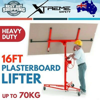 16 ft Plasterboard Drywall Lifter Plaster Panel Lift Hoist Heavy Duty Up to 70KG