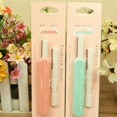 2pcs Pro Tinkle Eyebrow Face Razor Trimmer Shaper Shaver Blade Hair Remover Tool
