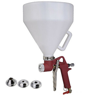 Air Hopper Spray Gun Paint Texture Tool Drywall Wall Painting Sprayer 3 Nozzles