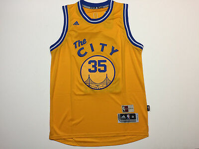 1349ec79b Kevin Durant  35 Golden State Warriors The City Stitch YELLOW Jersey  Swingman