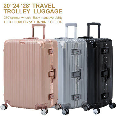 "16/20/24/28"" Luggage Travel Set with 4 Wheels Bag Trolley Case Carry On Suitcase"