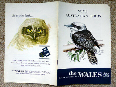 Vintage BANK of NEW SOUTH  WALES booklet - SOME AUSTRALIAN BIRDS