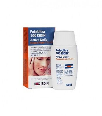 Isdin Fotoprotector Fotoultra Spf100 Active Unify Fusion Fluid Color 50 Ml
