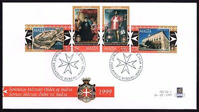 Malta 1999 Anniv. of Military Order First Day Cover FDC SG1094 - 7 Not Addressed