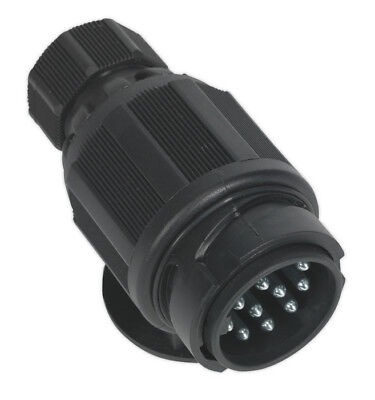 Towing Plug 13-Pin Euro Plastic 12V Twin Inlet From Sealey Tools