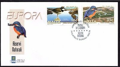 Malta 1999 Europa Parks Gardens First Day Cover FDC SG 1098 - 99  Not Addressed