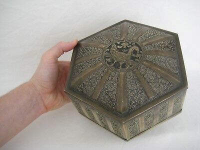 Antique Indian Hexagonal Box