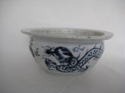 Old Chinese Dragon Bowl Red Seal