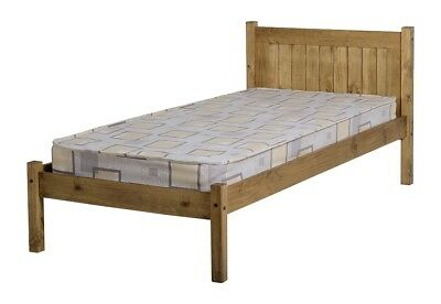 Seconique Maya 3FT Single - 90cm Wooden Bed - Distressed Waxed Pine