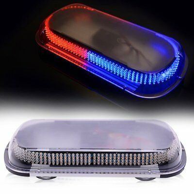 "368 LED 17"" Traffic Advisor Emergency Warning Strobe Flash Light Bar RED+BLUE"