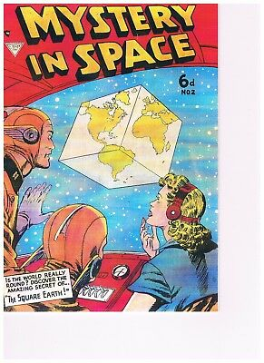 Mystery In Space #2: Whitworth Facsimile Comic: Dc Comics1954:the Square Earth