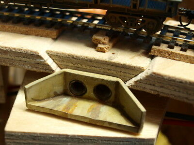 2 HO scale concrete culverts ready to place on your layout
