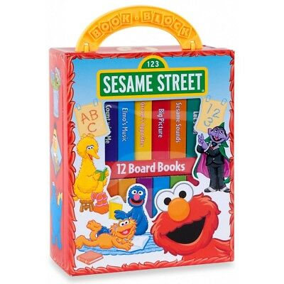 NEW Sesame Street My First Library 12 Board Books Set with Free Express Shipping