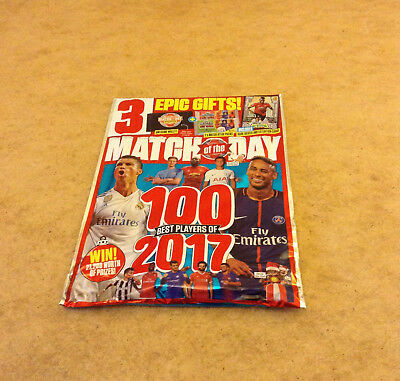 Match Of The Day #484 5/12/2017 + 2 Packs Match Attax Pogba Silver Card Wallet