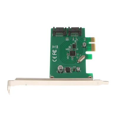 2Port SATA 6Gbps PCI Express Host Adapter Card SATA III Low Profile PCIe 3.0