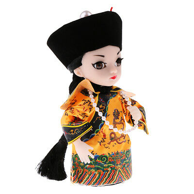 5''/14cm Peking Opera Performer Chinese Asian Doll Emperor of Qing Dynasty
