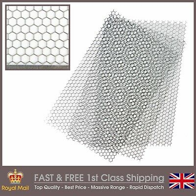 Hexagonal (8mm Hole x 1mm Hole) Steel Perforated Sheet - 3 Pack = A4 x 3
