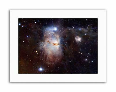 HUBBLE SPACE TELESCOPE IMAGE OF THE CRAB NEBULA BLACK FRAMED ART PRINT B12X2360