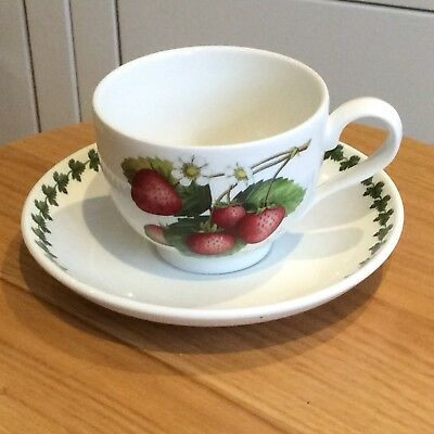 Portmeirion Pomona Tea Cup & Saucer Elsanta Strawberry NEW