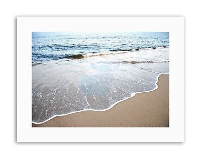 PHOTOGRAPHY SEASCAPE BEACH COAST SEA OCEAN WATER WAVES Poster Photograph Canvas
