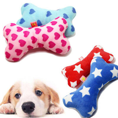 Random Pet Dog Puppy Latex Chew Sound Squeaker Squeaky Training Toy Bone Pillow