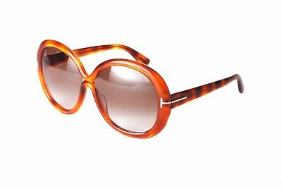 f4b928b3c8 TOM FORD SUNGLASSES FT0388 S 56B Gisella Light Havana Brown Gradient ...
