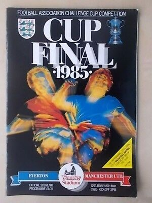 EVERTON v MANCHESTER UNITED - FA CUP FINAL - PROGRAMME 1985 - VGC