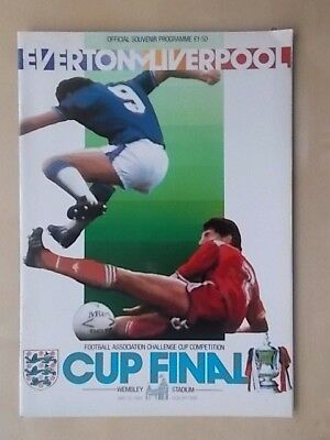 EVERTON v LIVERPOOL - FA CUP FINAL - PROGRAMME 1986 - MINT