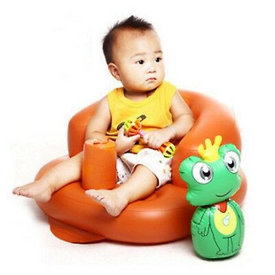 Inflatable Baby Sofa  Seat Portable  Soft  Kids safe Learn  Training Sitting