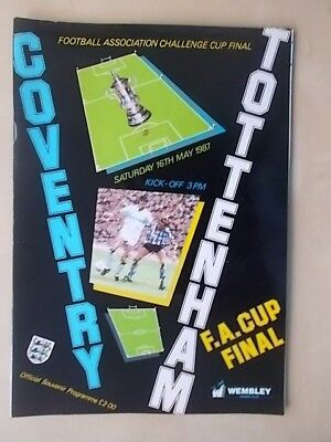 COVENTRY v TOTTENHAM - FA CUP FINAL - PROGRAMME 1987 - MINT