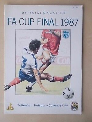 COVENTRY v TOTTENHAM - FA CUP FINAL - PROGRAMME 1987 - FA EDITION