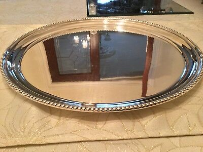Lovely Vintage Walker And Hall Silver Plated Drinks Tray Circa 1953