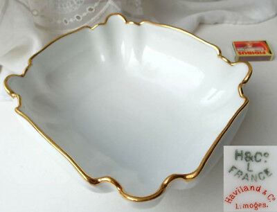 Schale, Goldrand, Haviland Limoges, H & Co, France, um 1900  F14