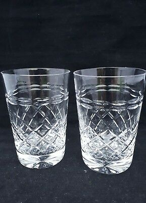 A PAIR OF Vintage  Stunning lead cut crystals  tumblers 8oz (3g)