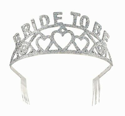 Bride To Be Glitter Tiara Hen Party Fancy Dress Accessory