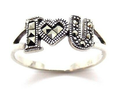 .925 Sterling Silver Ladies Ring With The Initials Of I Love You