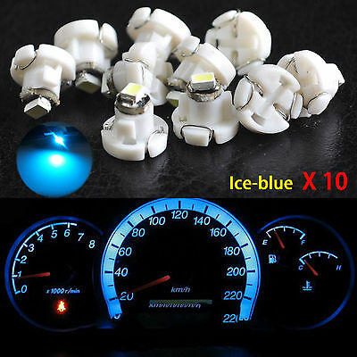 10pcs Ice Blue T4 T4.2 Neo Wedge 1-SMD LED Cluster Instrument Dash Bulbs Light