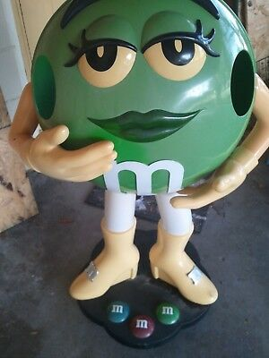 Ms Green M&M Store Display 3' Tall PICK-UP ONLY - NO SHIPPING POLK County, FL