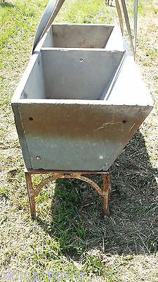 Antique ALBERENE Soapstone Double Basin Slant Front Sink with cast iron legs.