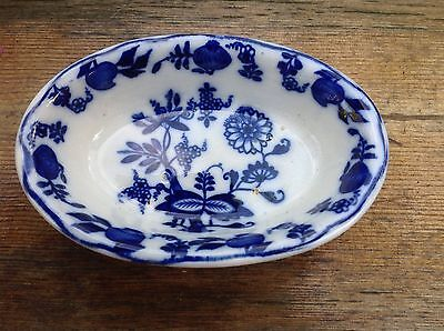 C1906-1912 S Hancock & Sons Dresden Cobalt Flow Blue And White