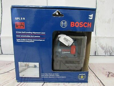 Bosch GPL 5 R 5 Point Self Leveling Alignment Laser - New