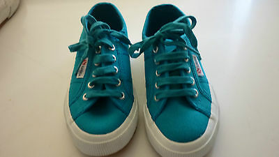Nwob Unisex Superga Kids Sneakers Size 12Us(Eur 29) Blue/acqua