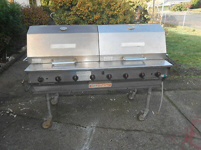 Magikitch'n MagiCater  Natural Gas Commercial Outdoor Charbroiler Grill npg60