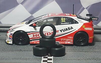 1/32 PAULGAGE SLOT CAR TIRES 2pr PGT-20105LM fits SCALEXTRIC Honda Civic BTCC