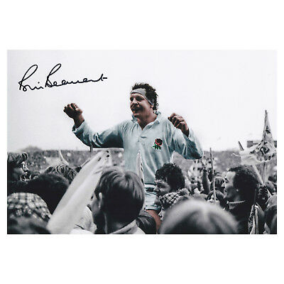 BILL BEAUMONT Signed Action Photo ENGLAND RUGBY Autograph Memorabilia