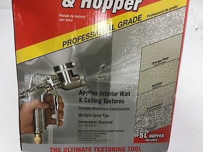 Homax Pro Gun and Hopper for Spray Texture Repair 4670