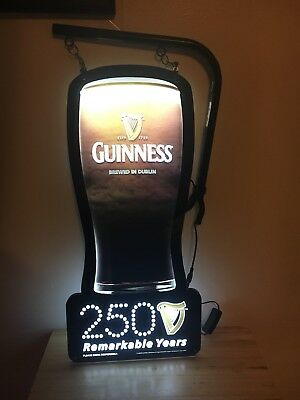 NEW 2009 GUINNESS BEER 2 Sided LED Bar Sign Beer Light IRISH PUB PRO MOTION