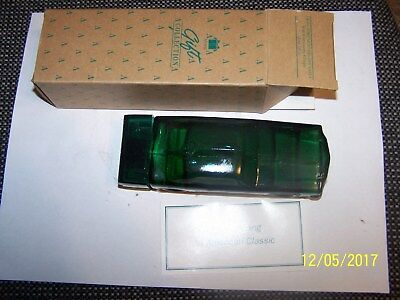 AVON Vintage 64 1/2 Ford Mustang Green Glass Decanter Car  NEW in BOX